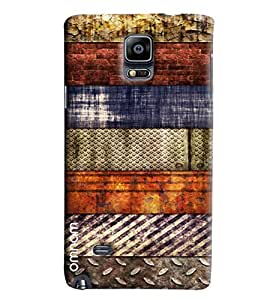 Omanm Different Pattern Rusted Designer Back Cover Case For Samsung Galaxy Note 4 N9100