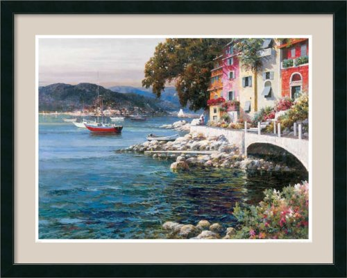 Seaside Terrace By Lotte Framed front-852663