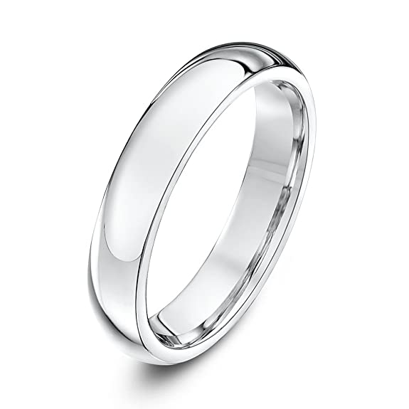 Palladium 4mm Heavy Weight Court Shape Wedding Ring