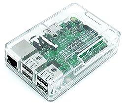 Raspberry Pi3 Model B ボード&ケースセット (Element14版, Clear) -Physical Computing Lab
