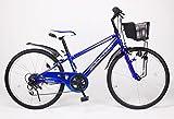 21Technology 24インチ マウンテンバイク kd246 6段ギア付き (ブルー24)