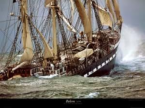 Le Siecle du Belem by Philip Plisson Ship Sinking Print Poster 31.5x23.5