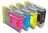 ブラザー(brother) 高品質 純正互換 インクカートリッジ B-LC10-4PK ブラック、マゼンダ、シアン、イエロー 4色セット