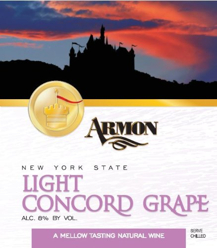 NV Armon Light Concord New York Red Sweet Table Wine Kosher (Red Table Wine compare prices)