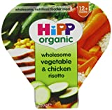 HiPP Organic Stages 3 and 4 1 to 3 Years Growing up Meal Wholesome Vegetable and Chicken Risotto 4 x 260 g (Pack of 2, Total 8 Pots)