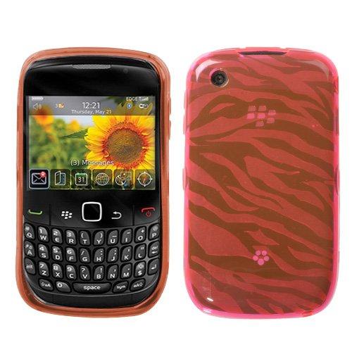Blackberry Curve 8520 9300 Pink Zebra Skin Candy Skin Cover (free ESD Shield Bag, Ship in Carton Box)