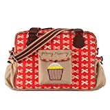 Pink Lining Yummy Mummy Baby Changing Nappy Bag - Cream Bows on Red