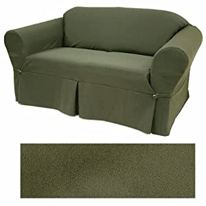 Ultra Suede Classic Olive Furniture Slipcover Sofa 640