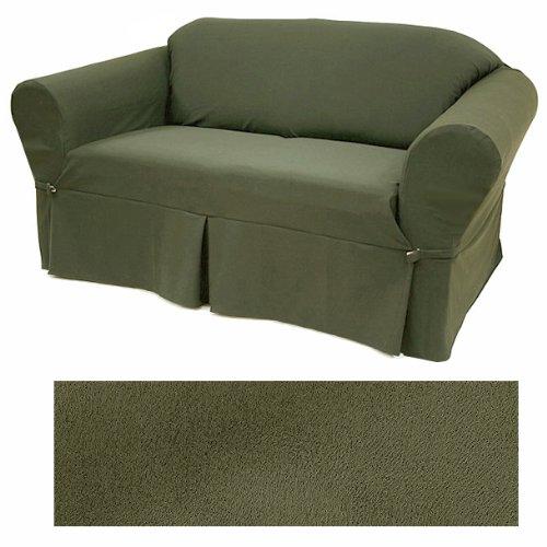 Ultra Suede Classic Olive Furniture Slipcover Sofa 640