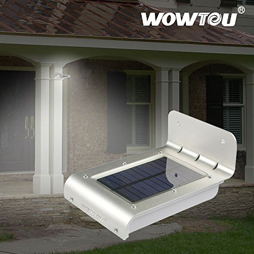 Wowtou(R) 3Rd Generation Version 3 In 1 Integrated Motion Sensor Sound Sensor Ray Sensor Unique Winter Snow Protection 16 Bright Led Outdoor Waterproof Heatproof Wireless Solar Panel Powered Security Garage Corner Path Fence Lamp Nightlight Led Motion Sen