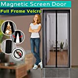 Magnetic Screen Door ,Full Frame Velcro,3 Sizes Avaliable to Fits Door Up To 46