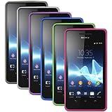 PrimaCase - x6 Case Set für Sony Xperia V - Transparent TPU Silikon Hüllen