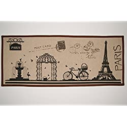 INDOOR MAT - French Décor for Front Door, Living Room, Bedroom, Kitchen and Bathroom - Paris Theme Welcome Entrance Rug