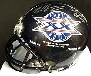 Mike Singletary Autographed Chicago Bears & SB Logo Mini Helmet SB XX Champs PSA...