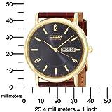 Citizen Men's BM8242-08E Eco-Drive Gold-Tone Leather Watch