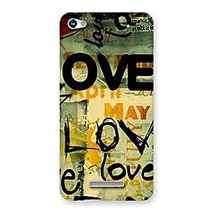 Enticing Love Typo Multicolor Back Case Cover for Micromax Hue 2