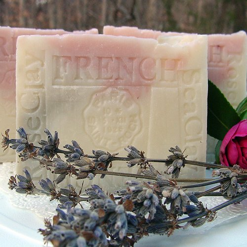 Provence Lavender / Jasmine Grandiflorum with Sea and Rose Clay Soap(Face and Body)