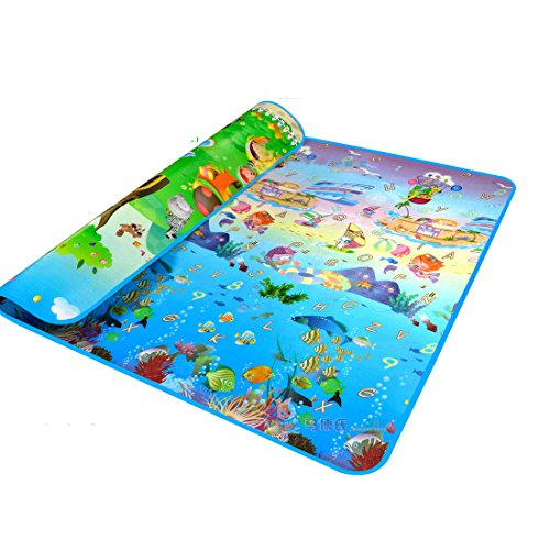 MaBoShi.79*71*0.2 Inches Extra Large Baby Crawling Mat Playmat Foam Blanket Rug (Outdoor Baby Mat compare prices)