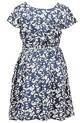 Trmpi Butterfly Print Dress for Girls