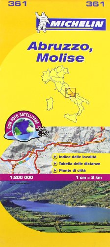 Michelin Map Italy: Abruzzo, Molise 361 (Maps/Local (Michelin)) (Italian Edition)