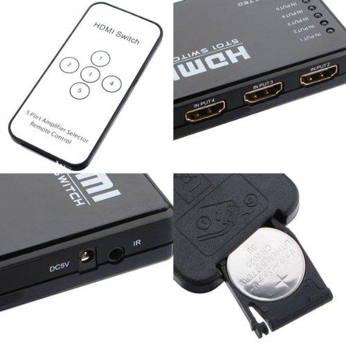 Mini Hdmi Splitter Switch Switcher Box Selector Remote Control