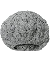 San Diego Hat Women's Recycled Yarn Cable-Knit Beret