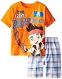 Disney Jake Boys 2-7 Plaid Short Set
