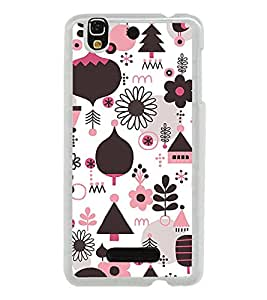 ifasho Designer Phone Back Case Cover YU Yureka :: YU Yureka AO5510 ( Pink Black Bow Colorful Pattern Design )