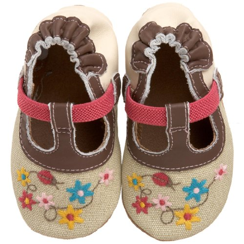 Robeez Infant/Toddler Organic Lady Bug T-Strap Soft Sole