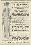 1912 Ad Lane Bryant Dress Negligee Clothing Boudoir Robe Shown - Original Vintage Advertisement