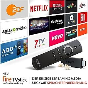 Fire TV Stick mit Sprachfernbedienung, Zertifiziert und generalüberholt
