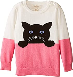 Kate Spade York Girls' Intarsia Cat Sweater (Infant) from kate spade new york
