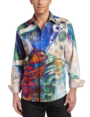 Robert Graham Men's P. Stephens. Mc Shirt, Blue, 4Xlarge