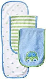 Gerber Baby Boys\' 3 Pack Terry Burp Cloths, Blue, One Size