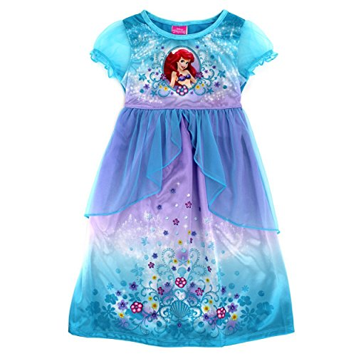 Disney Princess Ragazze Fantasy Accappatoio Nighty Pigiama Little Mermaid Ariel Blue 2 anni