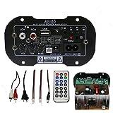 1pcs 6 inch 8 inch 10 inch Car subwoofer amplifier 220V 12V 24V audio speaker board audio module (Color: black, Tamaño: 4.1*5.9(cm))