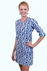 Gretchen Scott Lotus Love Tunic Royal