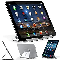 iPad Pro Stand, Stouch Aluminum Stand for iPad Pro with Aluminum Desktop Holder for iPad Pro 12.9 Microsoft Surface Pro 4 3, Samsung Tab Pro Silver