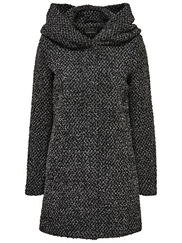 Only women coat Onlindie Sedona Petit long wool coat, Größe:S;Farbe:Dark Grey Melange