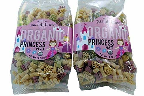 Kids Organic Princess Pasta - Crown, Castle, Princess Noodle Shapes - non GMO - 2 Packages, 14 Ounces Each (Organic Pasta For Kids compare prices)