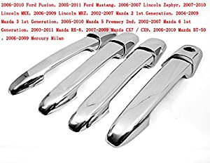 Mazda 3 5 6 Cx7 Cx8 Rx8 Chrome Door Handle Cover 2003 2008 Passenger Side Without