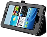 eForCity Leather Case for 7-Inch Samsung Galaxy Tab 2 P3100/P3110, Black (PSAMGLXTLC05)