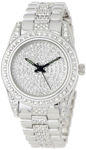 Geneve Elegante Men's GEN-4526R/silv Classic Rhinestone Encrusted Watch