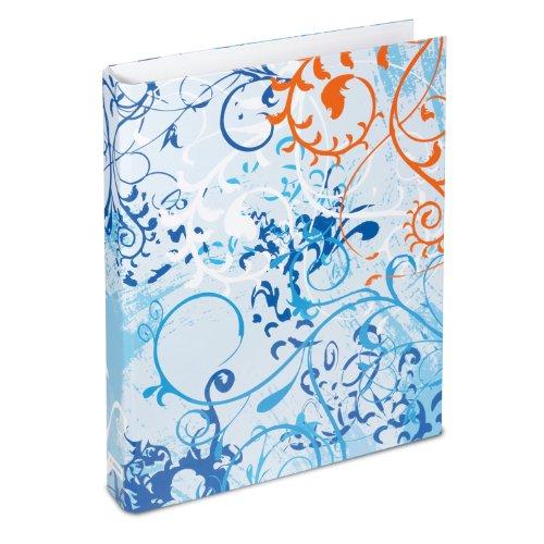 Herma 19029 HERMA Ringbuch A4 Design Spirit, blau, 19029 blau bedruckt blau