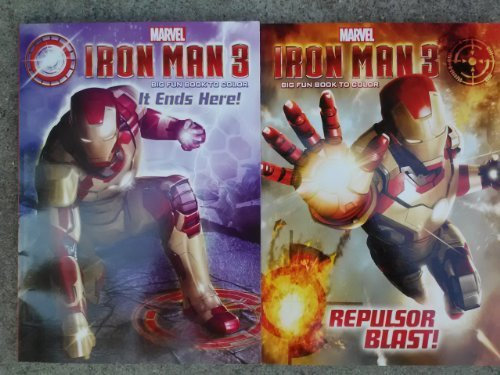 Iron Man 3 Big Fun Book to Color (Assorted, Designs Vary) - 1