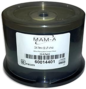 MAM-A (Mitsui) DIGITAL-AUDIO *GOLD INKJET/GOLD* 80-Minute CD-R's 50-Pak in Cakebox