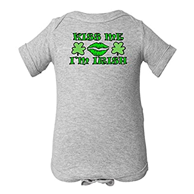 Kiss Me I'm Irish Ireland One Piece Romper Baby Bodysuit