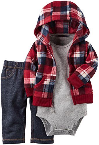 Carter's Baby Boys Cardigan Sets 121g785, Red, 6M