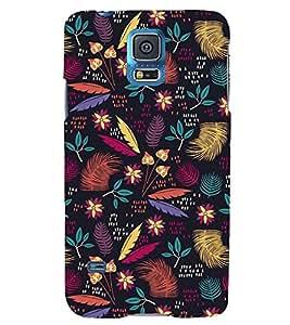 PURPLE ETHNIC FLORAL PATTERN 3D Hard Polycarbonate Designer Back Case Cover for Samsung Galaxy S5 Mini :: Samsung Galaxy S5 Mini G800F