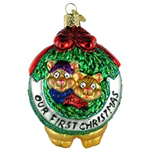 Old World Christmas Togetherness Our First Christmas Ornament